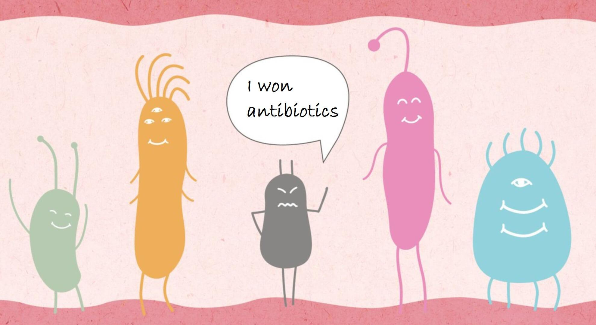 Why does resistance to different antibiotics develop
